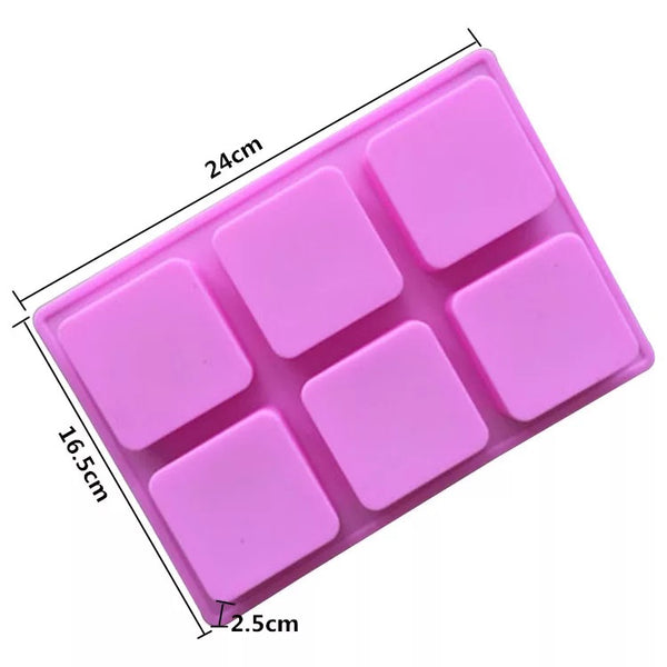 6 Cavity Square Silicon Mold
