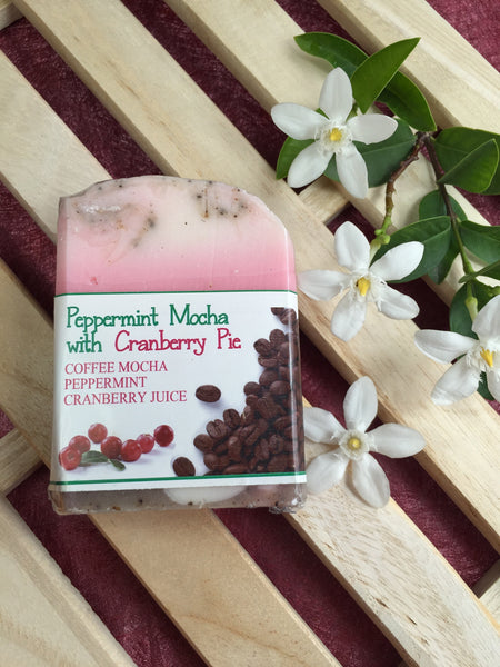 Peppermint Mocha with Cranberry Pie Soap