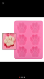 6 Cavity Dog Paw Silicon Mold