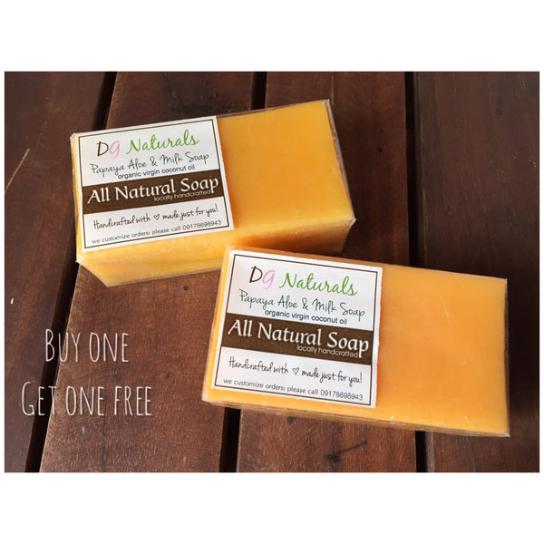 Papaya Aloe and Milk Soap 100g