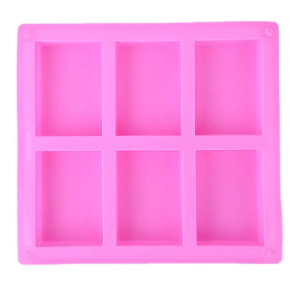 6 Cavity Rectangle Silicon Mold