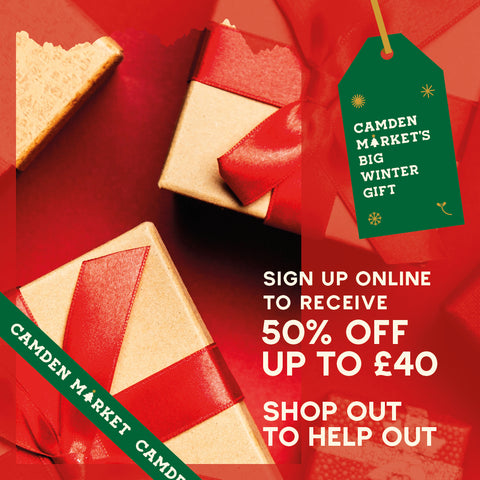 Christmas Discount - Shop Out To Help Out - Camden Market