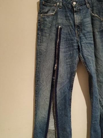 Jeans customized with zips. Multiple zips inspiration by koostyle.co.uk