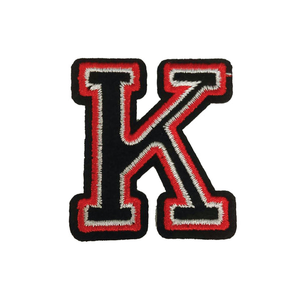 PC2405K - Black and Red Letter K (Iron On)