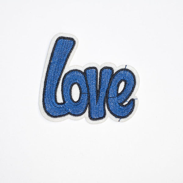 PC2114 - Blue Love Text (Iron On)