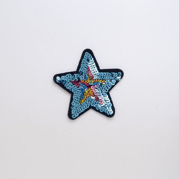 PC2241 - Sequin Star Blue (Iron On)