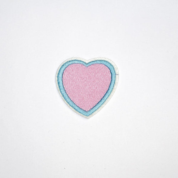 PC2110 - Blue Line Pink Heart (Iron On)