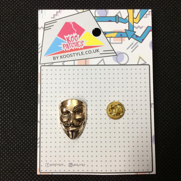 MP0165 - V For Vendetta Mask Metal Pin Badge