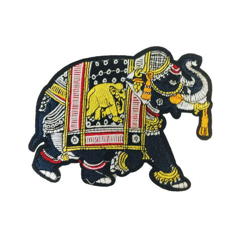 PC3066B - Multi Coloured Elephant L (Iron On)