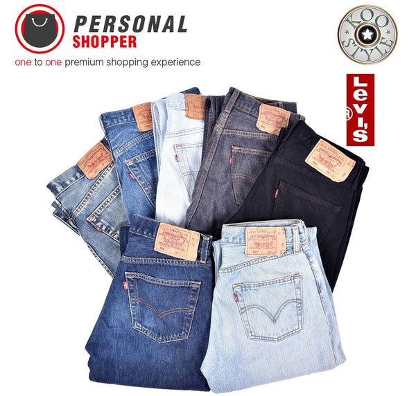 Vintage Denim Jeans Levi's Lee Wrangler - Shop With Your Personal Shopper