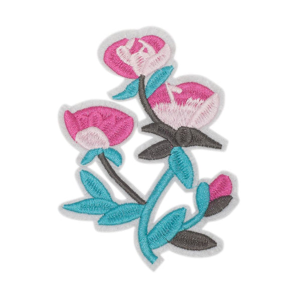 PC2467 - Blue Pink Flower (Iron On)