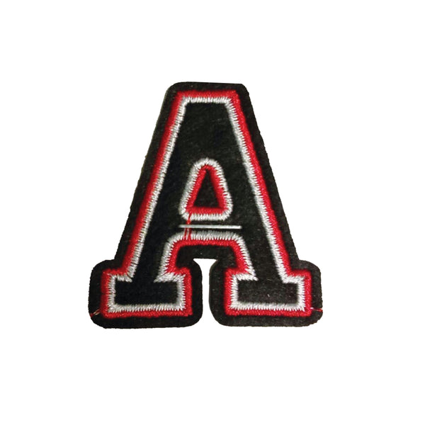 PC2405A - Black and Red Letter A (Iron On)