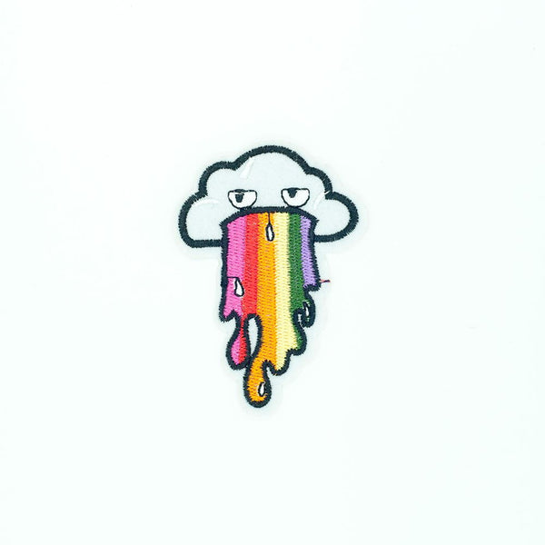 PC2675 - Cloud puke Rainbow Pop Art (Iron On)
