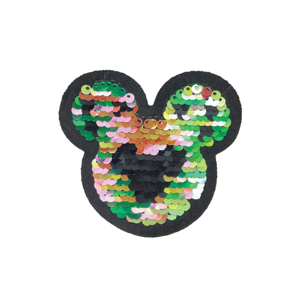 PC3638 - Reversible Double Sequin Mickey Mouse (Iron On)