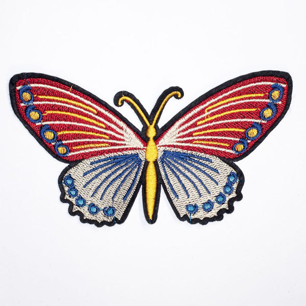 PC2161B - Red Blue Butterfly S (Iron On)