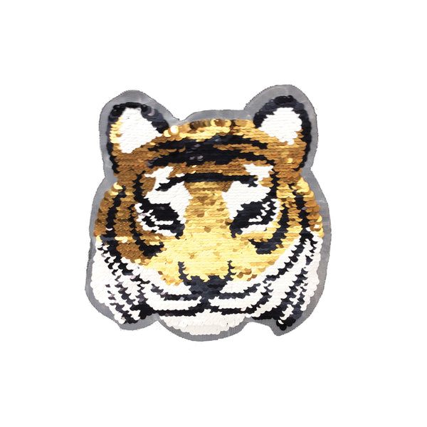 PC3643 - Reversible Double Sequin Tiger L (Sew On)