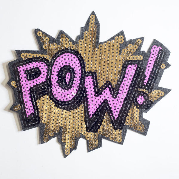 PC2154 - Sequin Pow! Text Effect (Iron On)