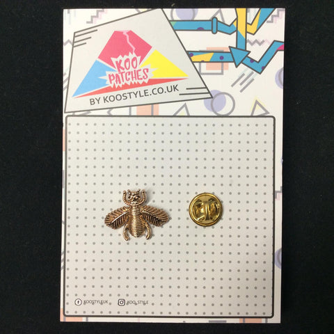 MP0153 - Gold Bee Leaf Bug Metal Pin Badge