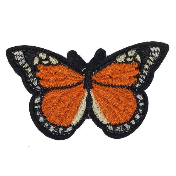 PC2418C - Orange Dots Butterfly (Iron On)