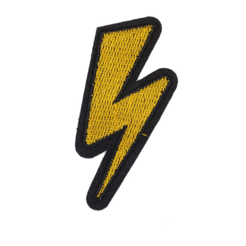 PC2432 - Yellow Lightning Bolt (Iron On)