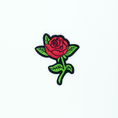 PC2696 - Small Red Rose (Iron On)