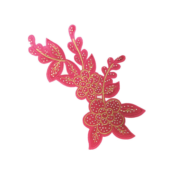 PC3080C - Pink Base Petal Flower (Iron On)