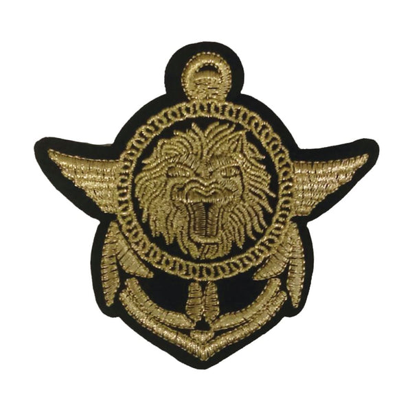PC3068 - Regal Lion Anchor Crest Badge (Iron On)