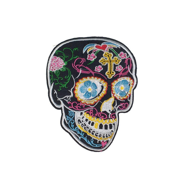 PC2938B -  Flower Sugar Skull S (Iron On)