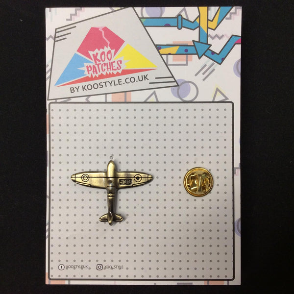 MP0219 - Gold Air Force Plane Aeroplane Metal Pin Badge