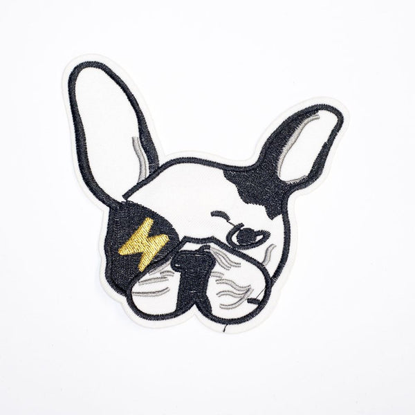 PC2157 - Funky Bull Dog Head (Iron On)