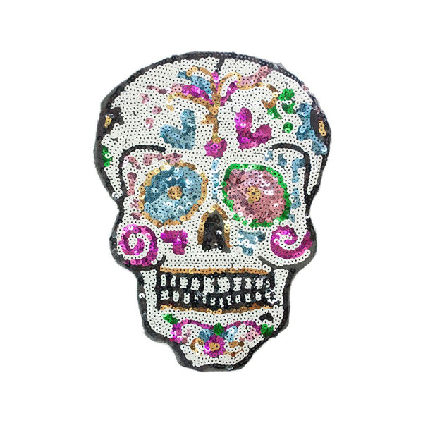 PC2829 - Sequin Sugar Skull L (Sew On)