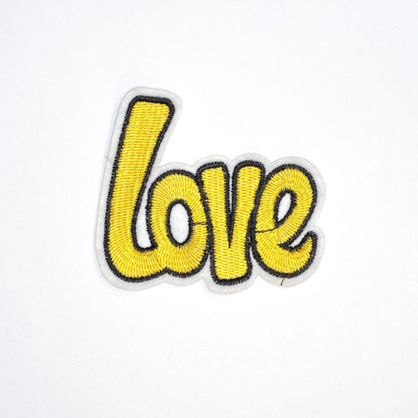 PC2111 - Yellow Love Text (Iron On)
