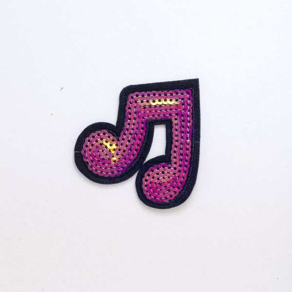 PC2256 - Sequin Pink Music Notes (Iron On)