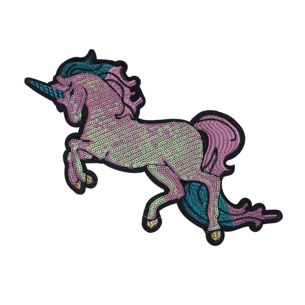 PC2422 - Sequin Pink Unicorn L (Iron On)