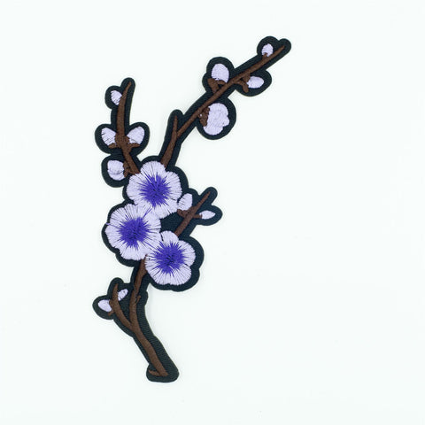 PC2729B - Pure Purple Branch blossom Flower R (Iron On)