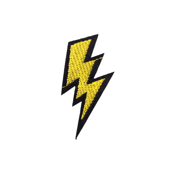 PC2432B - Yellow Lightning Bolt (Iron On)