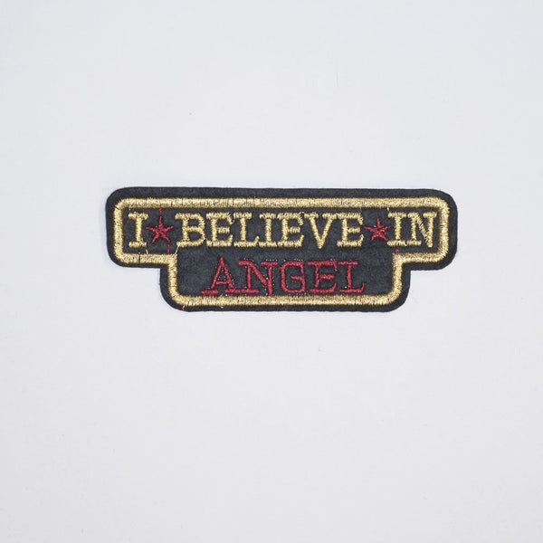 PC2128 - I Believe in Angel Text Brown (Iron On)