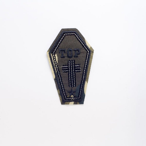 PC2232 - Top Cross Army Coffin (Iron On)