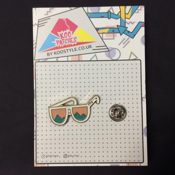 MP0191 - Cool Landscape Glasses Metal Pin Badge