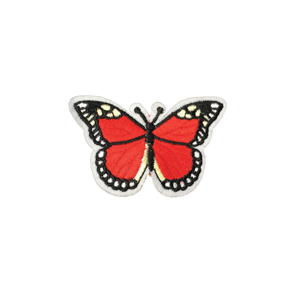 PC2418J - White Red Dots Butterfly (Iron On)