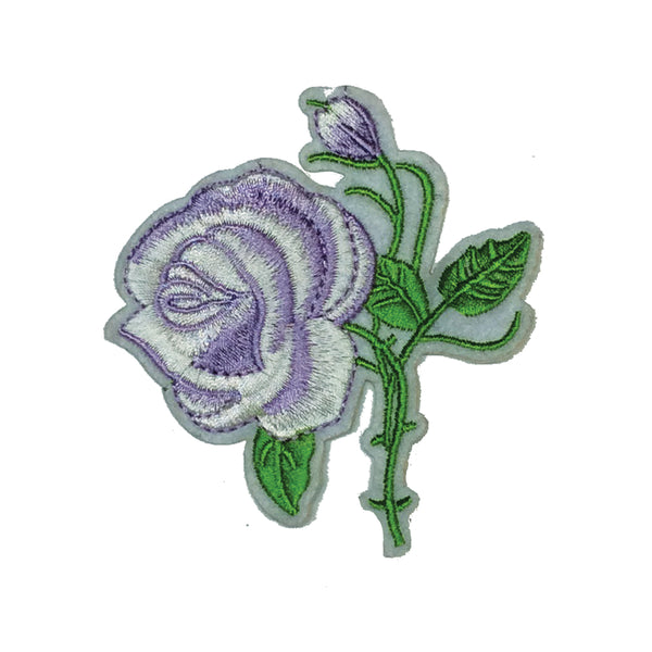 PC3010 - Pale Purple White Rose Flower (iron on)