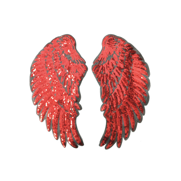 PC3100D - Super Sequin Red Wings  (Iron On)