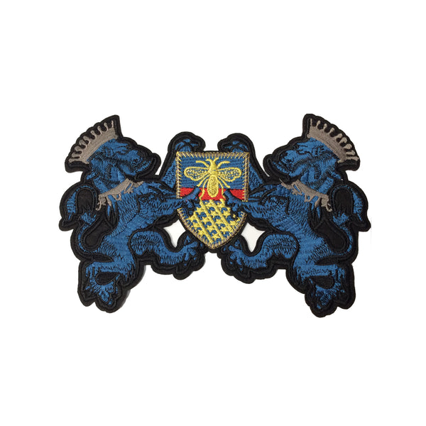 PC3414B - Blue Lion Bee Crest (Iron On)