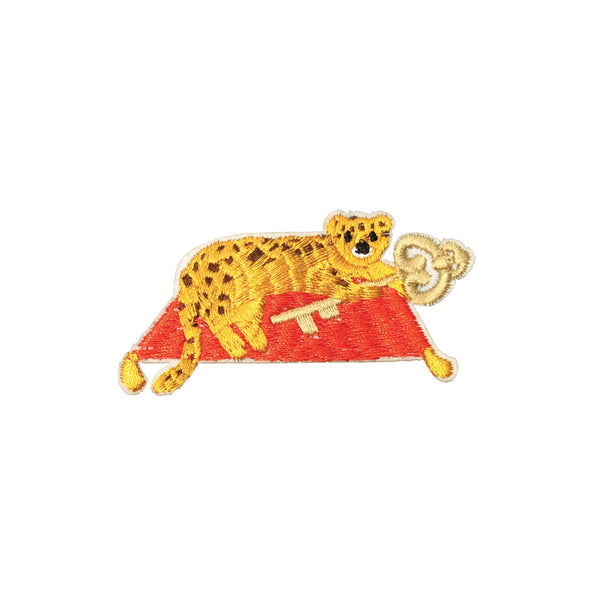 PC3691 - Tiger Leopard Holds Key Carpet (Iron On)