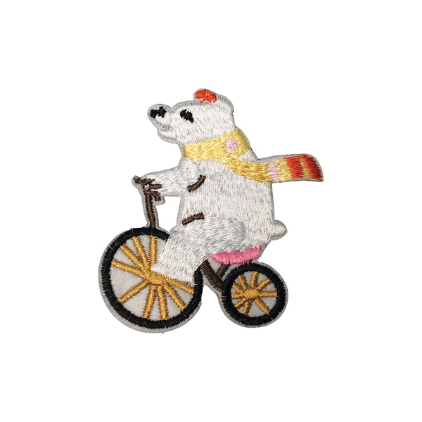 PC3708B - Riding Bicycle Circus Bear (Iron On)