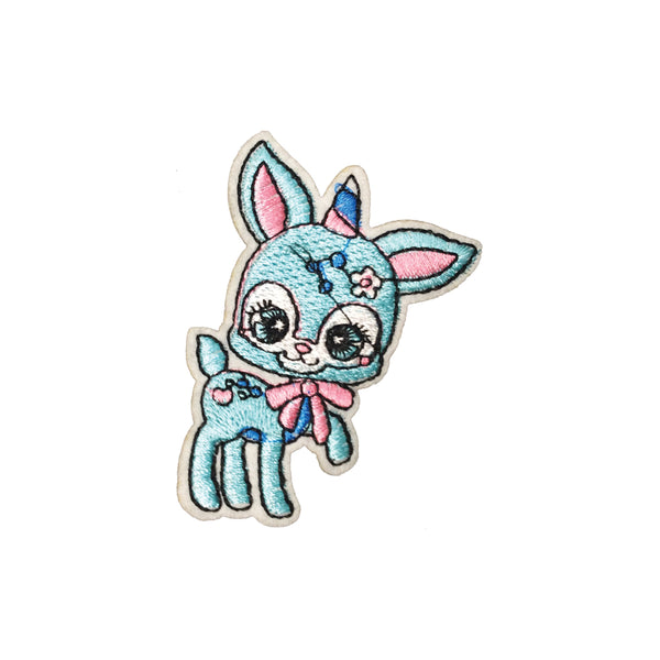 PC3709 - Baby Blue Toon Unicorn (Iron On)