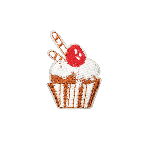 PC3748 - Glazed Cherry Cupcake (Iron On)