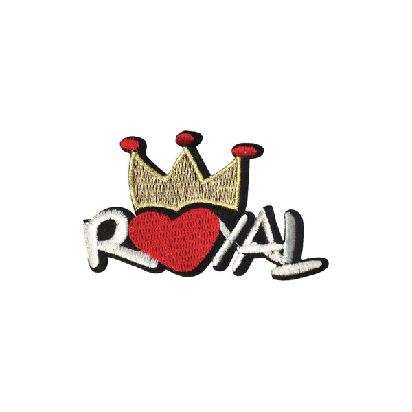 PC3759 - Royal Heart Crown Text (Iron On)
