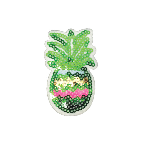 PC3770 - Sequin Green Pineapple (Iron On)