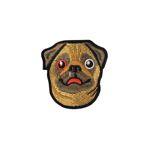 PC3795 - Pug Face Dog (Iron On)